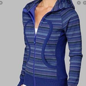 Lululemon Wish Blue Stripe Scuba Hoodie Jacket